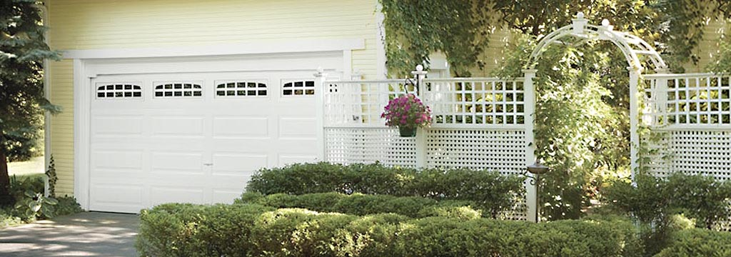 Garage Door with Arbor Garden